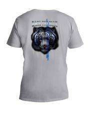 Tiger Back The Blue 2 Sides V-Neck T-Shirt tile