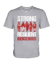 Native- Strong Resilient IndigenousV2 V-Neck T-Shirt tile