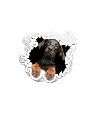 Doberman Pinscher Crack Sticker - 10 pack (Vertical) front