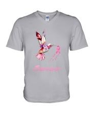 Breast Cancer Survive V-Neck T-Shirt tile