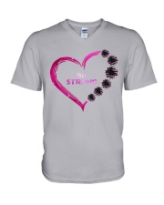 Breast Cancer - Be Strong V-Neck T-Shirt thumbnail