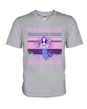 Mermaid - Yoga - Namerste V-Neck T-Shirt tile
