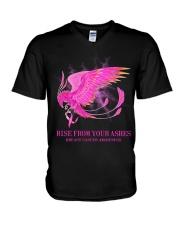 Breast Cancer Raise V-Neck T-Shirt tile