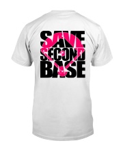 Breast Cancer Save The Second Base 2 Sides Classic T-Shirt back