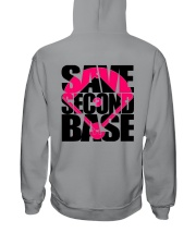 Breast Cancer Save The Second Base 2 Sides Hooded Sweatshirt tile