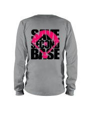Breast Cancer Save The Second Base 2 Sides Long Sleeve Tee tile