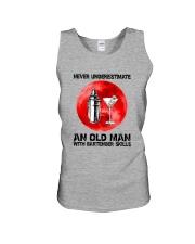 Bartender - Never Underestimate An Old Man Unisex Tank thumbnail