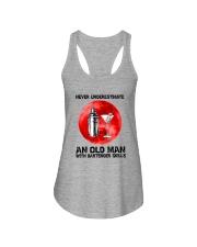 Bartender - Never Underestimate An Old Man Ladies Flowy Tank thumbnail
