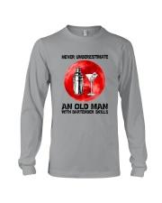 Bartender - Never Underestimate An Old Man Long Sleeve Tee thumbnail