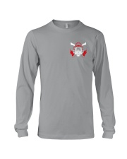 Firefighter Husband Father Hero 2 Sides Long Sleeve Tee tile