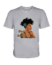 Black Is Beautiful 2 Sides V-Neck T-Shirt thumbnail