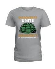 Turtle - Introvert Unite Ladies T-Shirt tile