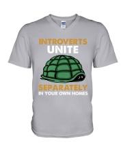 Turtle - Introvert Unite V-Neck T-Shirt tile