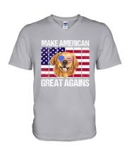 Dog - Make America Great Again V-Neck T-Shirt thumbnail
