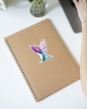 Mermaid - Sassy Since Birth Salty By Choice Sticker - Single (Vertical) aos-sticker-single-vertical-lifestyle-front-28
