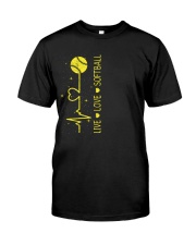 Live Love Softball Classic T-Shirt front