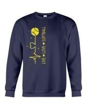 Live Love Softball Crewneck Sweatshirt thumbnail
