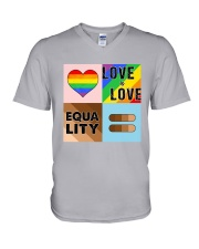 LGBT - Love Is Love - Equality V-Neck T-Shirt thumbnail
