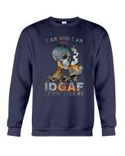 Skull IDGAF If You Like Me Crewneck Sweatshirt tile