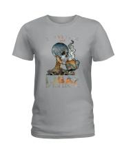 Skull IDGAF If You Like Me Ladies T-Shirt tile