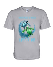Turtle Let It Be V-Neck T-Shirt thumbnail