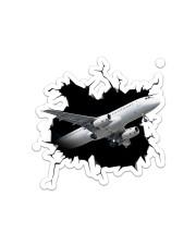 Air Plane Crack Sticker - Single (Vertical) front