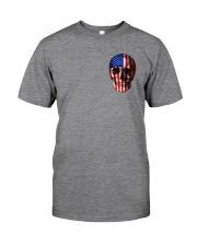 SKull Camo Flag 2 Sides Classic T-Shirt tile