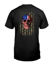 SKull Camo Flag 2 Sides Classic T-Shirt back