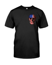 SKull Camo Flag 2 Sides Classic T-Shirt front