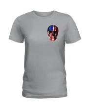 SKull Camo Flag 2 Sides Ladies T-Shirt thumbnail