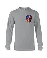 SKull Camo Flag 2 Sides Long Sleeve Tee thumbnail