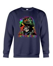 LGBT Skull Love Is A Battlefield Crewneck Sweatshirt thumbnail