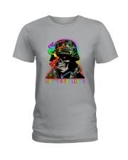 LGBT Skull Love Is A Battlefield Ladies T-Shirt thumbnail