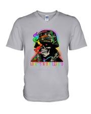 LGBT Skull Love Is A Battlefield V-Neck T-Shirt thumbnail