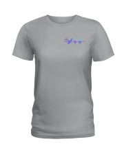Barber American Flag 2 Sides Ladies T-Shirt tile