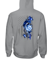 Police Rose v2 2 Sides Hooded Sweatshirt tile