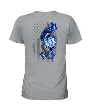 Police Rose v2 2 Sides Ladies T-Shirt tile