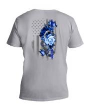 Police Rose v2 2 Sides V-Neck T-Shirt tile