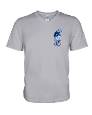 Police Rose v2 2 Sides V-Neck T-Shirt thumbnail