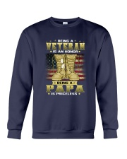 Veteran Dad Honor 1 Crewneck Sweatshirt thumbnail