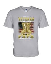 Veteran Dad Honor 1 V-Neck T-Shirt thumbnail