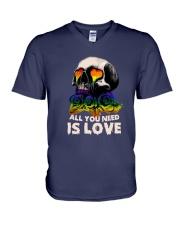 Sk Lgbt - All I Need Is Love V-Neck T-Shirt tile