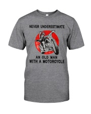 Sk Motorcycle Never Underestimate Classic T-Shirt front