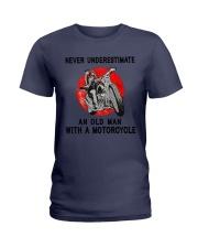 Sk Motorcycle Never Underestimate Ladies T-Shirt tile