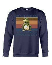 Frogs Im That Crazy Girl Crewneck Sweatshirt tile