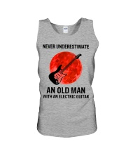 Never Underestimate An Old Man With A Guitar Unisex Tank tile