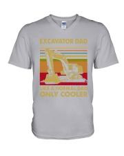 Excavator Dad Like A Normal Dad V-Neck T-Shirt tile