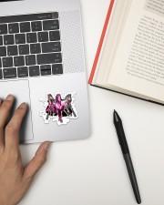 Breast Cancer Horse Crack St Sticker - Single (Vertical) aos-sticker-single-vertical-lifestyle-front-12