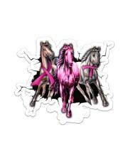 Breast Cancer Horse Crack St Sticker - Single (Vertical) front