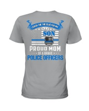 Police - Back The Blue For My Son 2 Sides Ladies T-Shirt tile